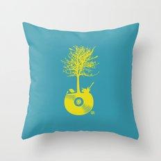 Vinyl Tree Throw Pillow