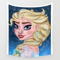 elsa Wall Tapestries featuring Elsa by Verima