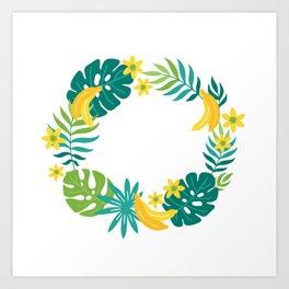 Banana tropical Art Print