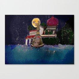 Full Moon Castle Canvas Print