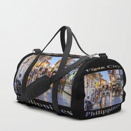 Rush Hour in Vigan City (on black) Duffle Bag