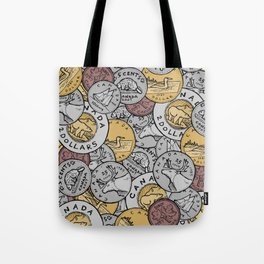 Canadian Coins Tote Bag