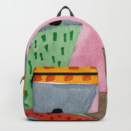 Cute Bear Watecolor Backpack