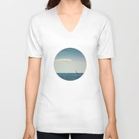 sail V-neck T-shirts featuring Sail by Brandy Coleman Ford