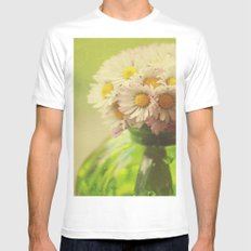 Flowers in the Window Mens Fitted Tee MEDIUM White