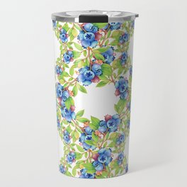 Wild Blueberries Lattice Travel Mug
