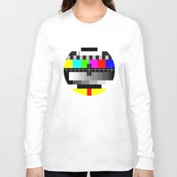tv Long Sleeve T-shirts featuring TV by Les Hameçons Cibles