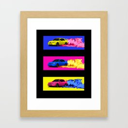Subaru STi Drift in Color Framed Art Print