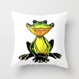 Jon Jade - The Cambodian Tree Frog Throw Pillow