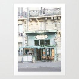 Le Petit Journal: a cafe in Paris Art Print