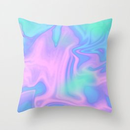 Candyfloss Sky Throw Pillow