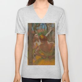"Edgar Degas ""Dancers"" 1896 Unisex V-Neck"