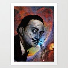 Salvador Dalí. (colored version) Art Print