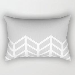 LACE CHEVRON (GRAY) Rectangular Pillow