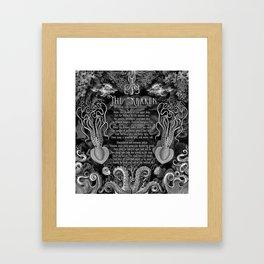 The Kraken (Black) Framed Art Print