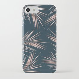 Rose Gold Palm Leaves 4 iPhone Case