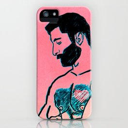 Man in Love iPhone Case