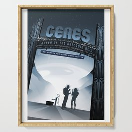 NASA Visions of the Future - Ceres, Queen of the Asteroid Belt Serving Tray