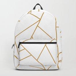 Geometric Gold Hexagon Pattern Backpack