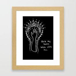 Hold my hand. Framed Art Print
