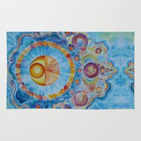 om Area & Throw Rugs featuring Om by Organic Generation Art
