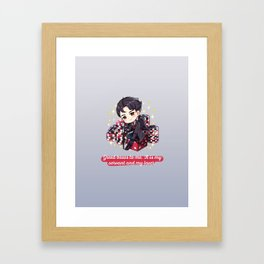 Kaz Brekker Six of Crows Crooked Kingdom Bookish Quote Framed Art Print