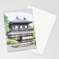 ginkaku ji temple japan Stationery Cards