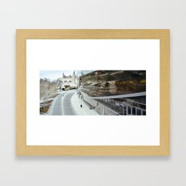 Walking into the future Framed Art Print