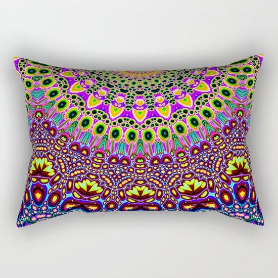 Vibrant Pop Art Pattern Rectangular Pillow