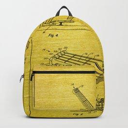 Guitar Patent - gold Backpack