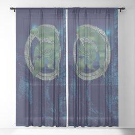 TROJAN HERO Sheer Curtain