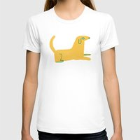 lab T-shirts featuring yellow lab  by sarah green