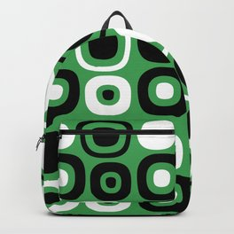 Mid Century Modern Garden Path Pattern 379 Green and Black Backpack