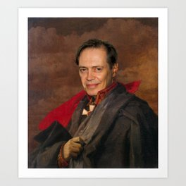 Steve Buscemi Poster, Classical Painting, Regal art, General, Actor Print, Celebrity Art Print