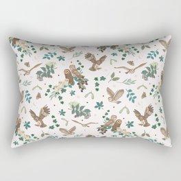 Woodland Owls in Daylight Rectangular Pillow