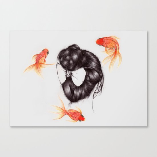Hair Sequel II Canvas Print