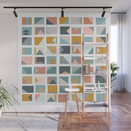 Mini Quilt Blocks Wall Mural