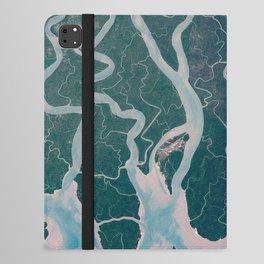 Sundarbans Mangroves from space iPad Folio Case