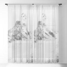MOUNTAIN DREAM III Sheer Curtain
