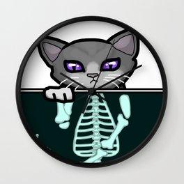 X-ray Cat Wall Clock