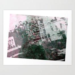 Fancy Houses Art Print
