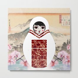 Geisha Matryoshka Metal Print