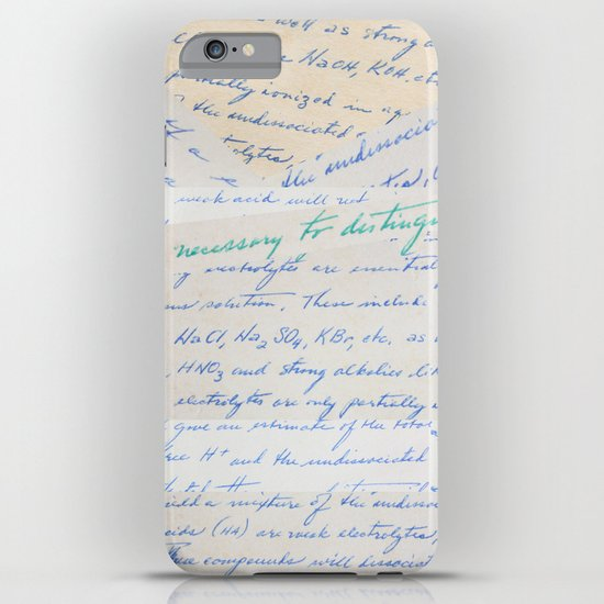 Science Art - 1970s Microbiology Notes iPhone Case