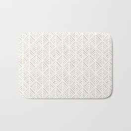 Abstract Leaf Pattern in Tan Bath Mat