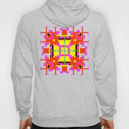 Key Lime Floral Cross Square Hoody