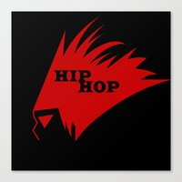 hiphop Canvas Prints featuring HIPHOP RED  by Robleedesigns