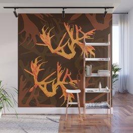 Horns Autumn Pattern Wall Mural