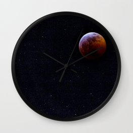 Super Wolf Blood Moon Lunar Eclipse Wall Clock