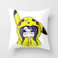 onesie Throw Pillows featuring Onesie by VerticalSynapse
