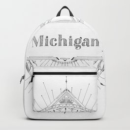 Art Deco Michigan Backpack